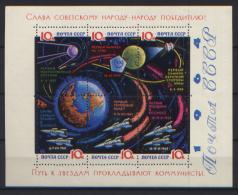 Russia 1964 BF 35a Carta Gessata **/MNH VF/F - Blocs & Feuillets