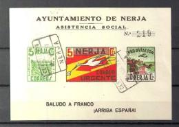 EMISIONES LOCALES GUERRA CIVIL, NERJA,  FESOFI  Nº 8 CIRCULADO - Viñetas De La Guerra Civil