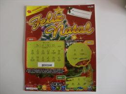 Loterie/ Lottery/ Loteria/ Lotaria Instant Instantânia Raspadinha  Jogo Nº 178 Feliz Natal Portugal - Billets De Loterie