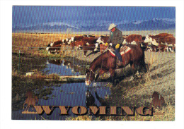 Etats Unis: Wyoming, Fall Roundup On A Big Spread In The Mountainous Ranching Country Of Western Wyoming (14-3630) - Etats-Unis