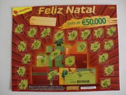 Loterie/ Lottery/ Loteria/ Lotaria Instant Instantânia Raspadinha Nº 162 Feliz Natal Portugal - Billets De Loterie
