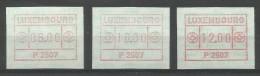 VIGNETTES LUXEMBOURG DISTRIBUTEURS Sér 1 (6,10,12 Flux) - Postage Labels