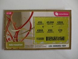 Loterie/ Lottery/ Loteria/ Lotaria Instant Instantânia Raspadinha  Jogo Nº 134 Portugal - Billets De Loterie