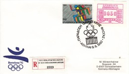 OLYMPISCHE SPIELE-OLYMPIC GAMES, SPAIN, 1992, Special Cancellation !! - Estate 1992: Barcellona