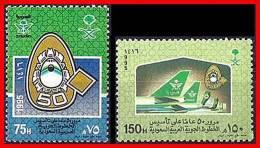SAUDI ARABIA 1995 AIRPLANES SC#1224-25 MNH PLANES, AVIATION  D1 - Saudi Arabia