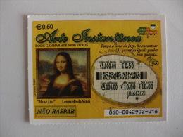 Loterie/ Lottery/ Loteria/Lotaria Instant Instantânia Raspadinha Jogo Nº 60 Mona Lisa Portugal - Billetes De Lotería