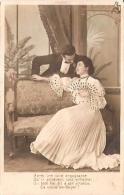 "PAREJA DE ENAMORADOS-PAIR OF LOVERS ""EL SILLON"" ED.J.K VOYAGÉE VIAJADA 1905 GECKO. - Koppels"
