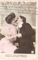 PAREJA DE ENAMORADOS-PAIR OF LOVERS Nº320/3 PAS ÉMIS NOT ISSUED VOYAGÉE VIAJADA 1906 GECKO. - Koppels