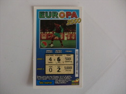 Loterie/ Lottery/ Loteria/Lotaria Instant Instantânia Raspadinha Jogo Nº 39 Europa 2000 Portugal - Billets De Loterie