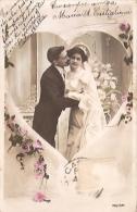 PAREJA DE ENAMORADOS-PAIR OF LOVERS MARRIAGE MARIAGE MATRIMONIO  ED.J.K CIRCULEE 1906 TIMBRE ARRACHES GECKO. - Koppels