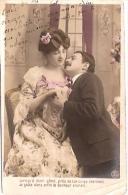PAREJA DE ENAMORADOS-PAIR OF LOVERS AMOR LOVE AMOUR  ED.I.P.S CIRCULEE CIRCA 1906 TIMBRE ARRACHES GECKO. - Koppels