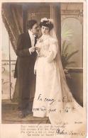 """PAREJA COUPLE PAAR MA MOITIÉ LOVERS MARRIAGE CASAMIENTO ED.J.K """"EL MILLÓN"""" VOYAGÉE VIAJADA CIRCA 1920 GECKO. - Koppels"""