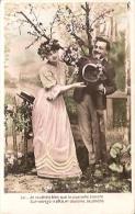 "PAREJA COUPLE PAAR MA MOITIÉ LOVERS BOYFRIENDS NOVIOS GROOMS ED.I.P.S ""EL MILLÓN"" VOYAGÉE VIAJADA CIRCA 1910 GECKO. - Koppels"