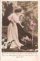PAREJA COUPLE PAAR MA MOITIÉ LOVERS BOYFRIENDS NOVIOS GROOMS Nº 1877 ED.I.P.S VOYAGÉE CIRCA 1910 TIMBRE ARRACHES GECKO. - Koppels