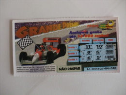 Loterie/ Lottery/ Loteria/Lotaria Instant Instantânia Raspadinha Jogo Nº 16 Grande Prémio Portugal - Billets De Loterie