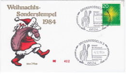 Germany Deutschland 1984 FDC Christmas Weihnacht, Canceled In Grossrosseln, Santa Claus - [7] Repubblica Federale