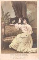 "PAREJA COUPLE PAAR MA MOITIÉ LOVERS BOYFRIENDS NOVIOS GROOMS EDIT. ""EL MILLON"" VOYAGÉE VIAJADA  CIRCA 1920 GECKO. - Koppels"