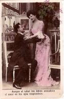 PAREJA COUPLE PAAR MA MOITIÉ LOVERS BOYFRIENDS NOVIOS GROOMS PAS ÉMIS NOT ISSUED VOYAGÉE VIAJADA CIRCA 1920 GECKO. - Koppels