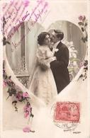 PAREJA COUPLE PAAR MA MOITIÉ LOVERS MARRIAGE CASAMIENTO ED.J.K  VOYAGÉE VIAJADA CIRCA 1906 GECKO. - Koppels