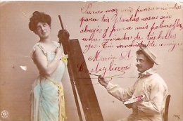 PAREJA COUPLE PAAR MA MOITIÉ LOVERS MARRIAGE CASAMIENTO Nº 716/1 EDIT.N.P.G CIRCULEE CIRCA 1906 GECKO. - Koppels