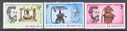 GRENADA  GRENADINES  205-7  *   ALEXANDER G.  BELL  TELEPHONE - Grenada (1974-...)