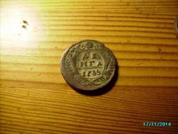 1735  RUSSIA TSARINA ANNA , 1 DENGA  , 0 - Rusland