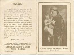 CALENDARIETTO S. ANTONIO DI PADOVA PROTETTORE ORFANELLI MESSINA ROCCALUMERA 1938 - Calendari