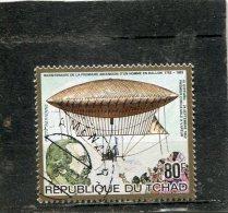 CHAD. 1983. SCOTT C268. BALLOON TYPE AND STEAM POWERED AIRSHIP, H. GIFFARD - Tchad (1960-...)