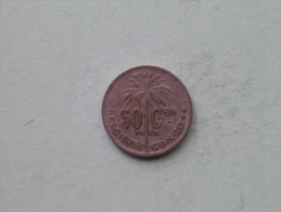 1926 - 50 Cent Belgisch / KM 23 ( Uncleaned - Details Zie Foto´s ) ! - Congo (Belge) & Ruanda-Urundi