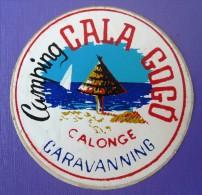 HOTEL RESIDENCIA PENSION CALA GOGO CALONGE CATALONIA SPAIN LUGGAGE LABEL ETIQUETTE AUFKLEBER DECAL STICKER MADRID - Hotel Labels