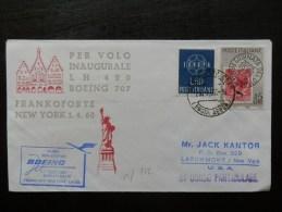 45/712  LETTRE 1960  1° VOL BOEING - 1946-60: Marcophilie
