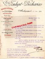 03 - MONTLUCON - FACTURE VVE FONLUPT BECHARIAS - SPECIALITES DE CHIFFONS POUR PAPETERIE - 1902 - France