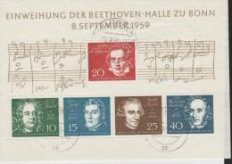 DSP788b/ Beethoven 1959, Mi. Block 2 O - [7] West-Duitsland