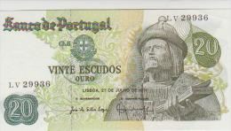Portugal 20 Escudos 1971 Pick 173 Sign1 UNC - Portugal