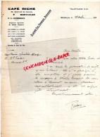 03 - MONTLUCON -  LETTRE MANUSCRITE CAFE RICHE -68 BOULEVARD DE COURTAIS-1930-P.E. COMBEBIAS - Manuscrits