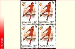 Rwanda 1116**  x4  1,5F Espana 82 MNH