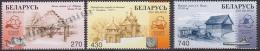 Belarus - Bielorussie 2003 Yvert 459-61, Wood Architecture - MNH - Bielorrusia