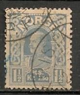Timbres - Norvège - 1910 - 1 1/2 Kr. -