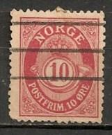Timbres - Norvège - 1910 - 10 Ore -