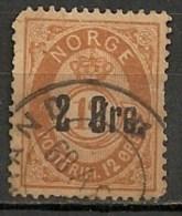 Timbres - Norvège - 1910 - 12 Ore -