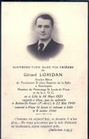 NORD PAS DE CALAIS - Carte Mortuaire - LILLE - ESTAIMPUIS (Belgique) - FIVES - AUBIN SAINT VAAST 22 Mai 1940 - Guerre 1939-45