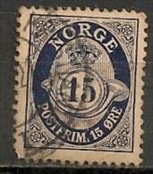 Timbres - Norvège - 1910 - 15 Ore -