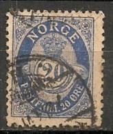 Timbres - Norvège - 1910 - 20 Ore -