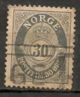Timbres - Norvège - 1910 - 30 Ore -