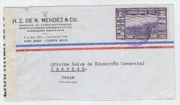 Costa Rica/Switzerland CENSORED AIRMAIL COVER 1941 - Costa Rica