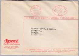 """MOTIV ZEITUNG 1933-06-27 Zürich 19 Firmenfreistempel """"P3P #874"""" Auf Brief - Timbres"""