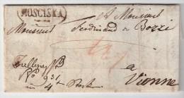 """Österreich, 1829, """" MOSCISKA """" Gallizien  , S556 - ...-1850 Prephilately"""