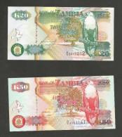 [NC] ZAMBIA - BANK Of ZAMBIA - 20 / 50 / 100 KWACHA (1992) - Zambia