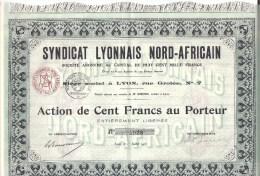 Syndicat Lyonnais Nord Africain - Action De 100 Francs - Actions & Titres