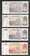 [NC] SERBIA - NATIONAL BANK - 5000 / 50000 / 100000 / 500000 DINARA (1993) LOT Of 4 DIFFERENT BANKNOTES - Serbia